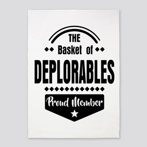 Proud Member of the Basket of Deplorables 5'x7'Are
