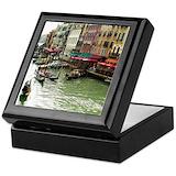 Venice italy Square Keepsake Boxes