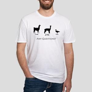Llama, Alpaca, Duck... Any Qu Fitted T-Shirt