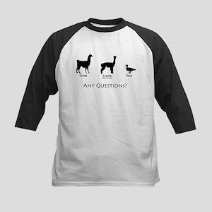 Llama, Alpaca, Duck... Any Qu Kids Baseball Jersey