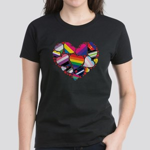 All Pride Heart Women's Dark T-Shirt