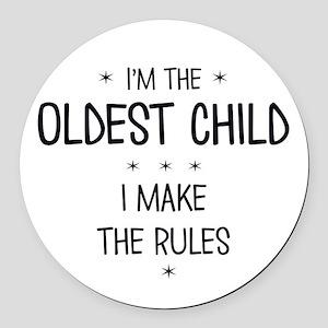 OLDEST CHILD 3 Round Car Magnet