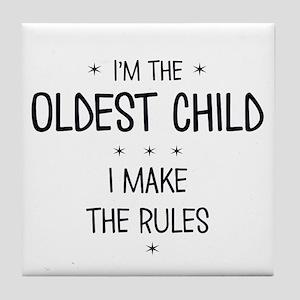 OLDEST CHILD 3 Tile Coaster