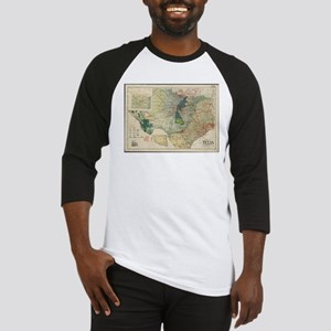 Vintage Map of The Texas Oil and G Baseball Jersey