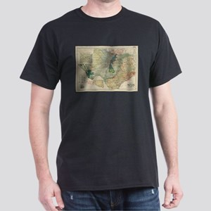 Vintage Map of The Texas Oil and Gas Field T-Shirt