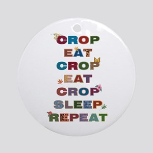 Crop All Day Round Ornament