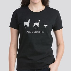 Llama, Alpaca, Duck... Any Qu Women's Dark T-Shirt