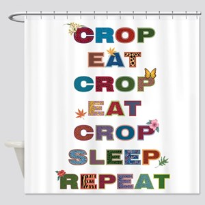 Crop All Day Shower Curtain