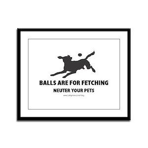 Neuter Your Pets Framed Panel Print
