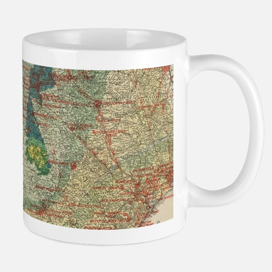 Vintage Map of The Texas Oil and Gas Fields ( Mugs