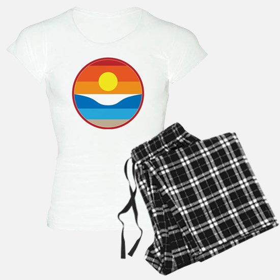 Horizon Sunset Illustration Pajamas