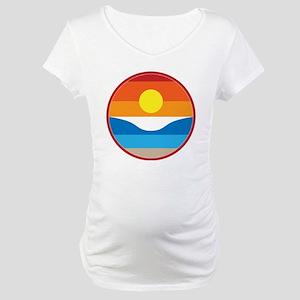 Horizon Sunset Illustration Maternity T-Shirt