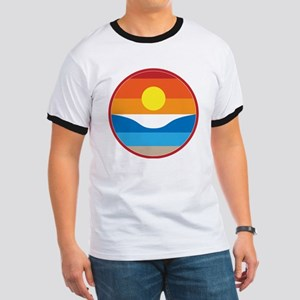 Horizon Sunset Illustration with Crashing T-Shirt