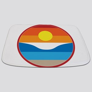 Horizon Sunset Illustration with Crashing Bathmat