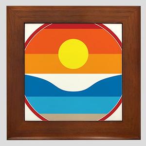 Horizon Sunset Illustration with Crash Framed Tile
