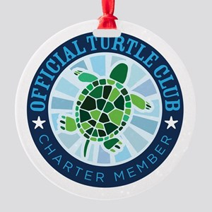 Turtle Club Round Ornament