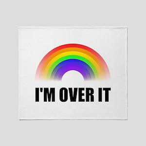 Over It Rainbow Throw Blanket