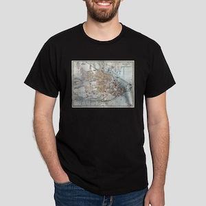 Vintage Map of Quebec City (1894) T-Shirt
