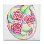 Like A Rose Among Thorns Tile Coaster