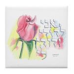 I am My Beloved's Tile Coaster