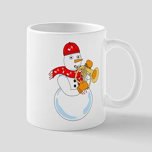 Flugelhorn Snowman Mugs
