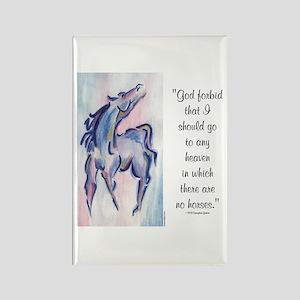 Horse Heaven Rectangle Magnet