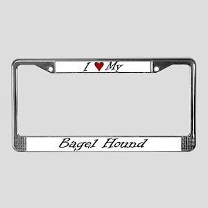 I Heart My Bagel License Plate Frame