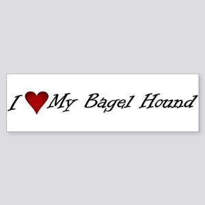 I Heart My Bagel Bumper Sticker