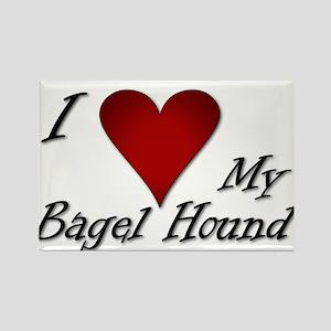 I Heart My Bagel Rectangle Magnet