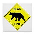 Bear Crossing Tile Coaster