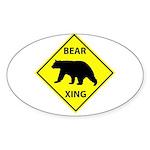 Bear Crossing Sticker (Oval)