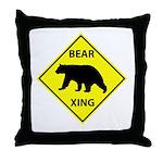 Bear Crossing Throw Pillow