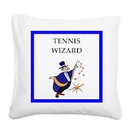 Tennis joke Square Canvas Pillow