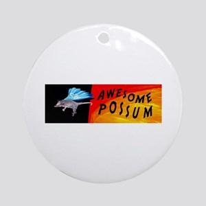 Flying Awesome Possum Ornament (Round)
