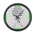 Tennis joke Large Wall Clock