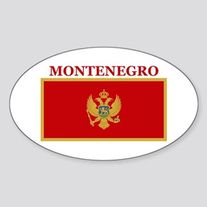 Montenegro Products Oval Sticker