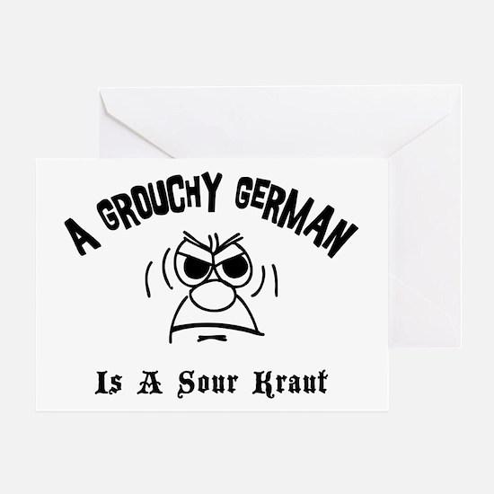 Grouchy German Greeting Card