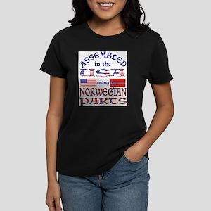 USA/Norwegian Parts Ash Grey T-Shirt