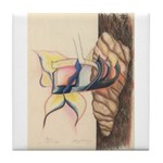 Shalom Butterfly: Life Emerge Tile Coaster