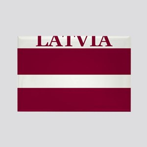 Latvia Products Rectangle Magnet