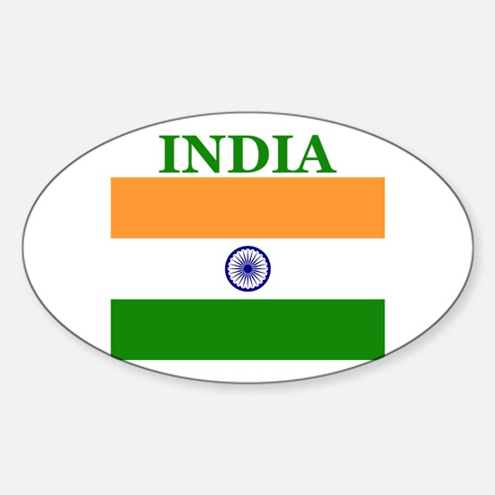 India Products Oval Decal