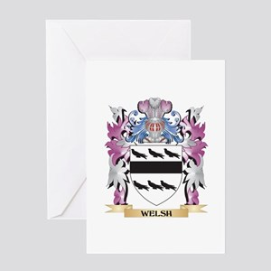 Welsh reunion greeting cards cafepress welsh coat of arms family crest greeting cards m4hsunfo