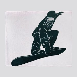 SNOWBOARDER Throw Blanket