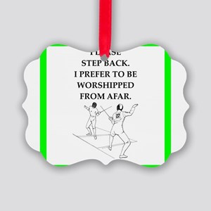 Fencing joke Ornament