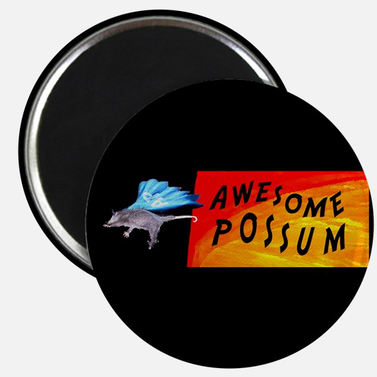 Flying Awesome Possum Magnet