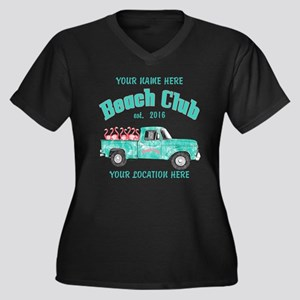 Flamingo Beach Club Plus Size T-Shirt