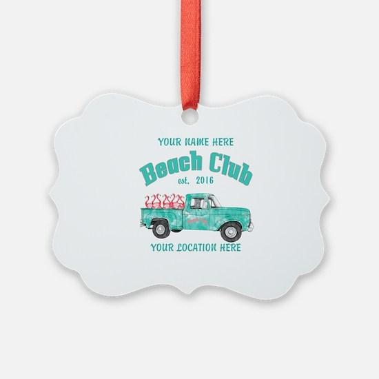 Flamingo Beach Club Ornament