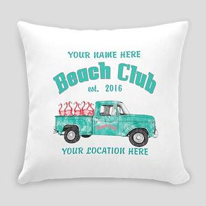 Flamingo Beach Club Everyday Pillow