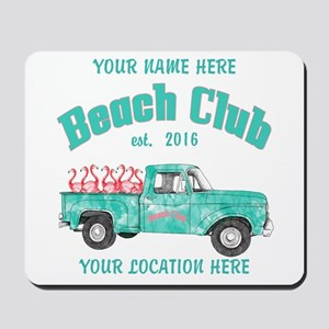 Flamingo Beach Club Mousepad