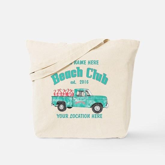 Flamingo Beach Club Tote Bag